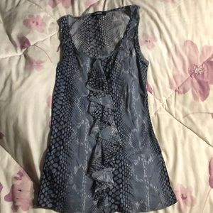 Black & grey snake print tank top